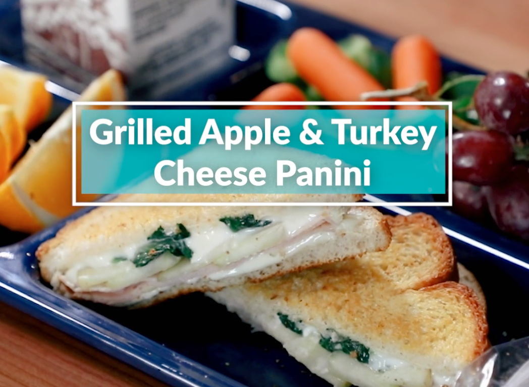 Grilled Apple & Turkey Cheese Panini