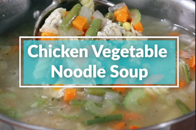 Homemade Chicken Vegetable Noodle Soup
